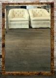 Beveled Mirror W/ Heavy Polished Stone Frame - 31