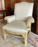 William Switzer Hand Carved Upholstered Arm Chair - 34