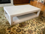 Extra Large Upholstered Parson's Style Coffee Table - 60