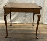 Queen Anne Style Mahogany Game Table W/ 2 Drawers - 30½