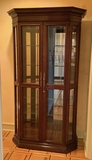 High End Lighted Curio Cabinet W/ Beveled Glass Doors - 45½