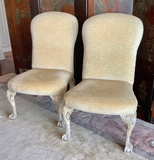 Pair William Switzer Eagle Side Chairs W/ Claw & Ball Feet - 24