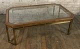 High End Designer Coffee Table W/ Glass Top - Minor Wear, 30