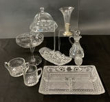 10 Pieces Old Glass Items