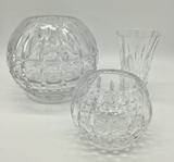 3 Crystal Vases