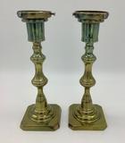 Pair Rosland Vintage Brass Lamp Bases - 8