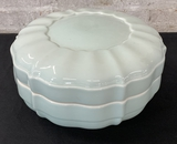 Large Celadon Ceramic Box W/ Lid - 14