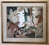 Barbara N. Stoll Watercolor - Unspoken Whispers, Signed B N Stoll KWS, Fram