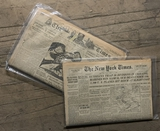 2 Newspapers From Historical Newspaper Archives W/ COA - The New York Times