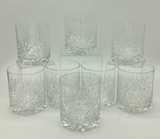 8 Crystal Double Old Fashioned Glasses