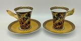 2 Rosenthal Studio Line Cups & Saucers - Versace Barocco