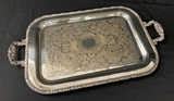 Silverplated Double-Handled Serving Tray - 25