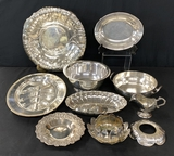 11 Pieces Vintage Silverplated Serving Pieces
