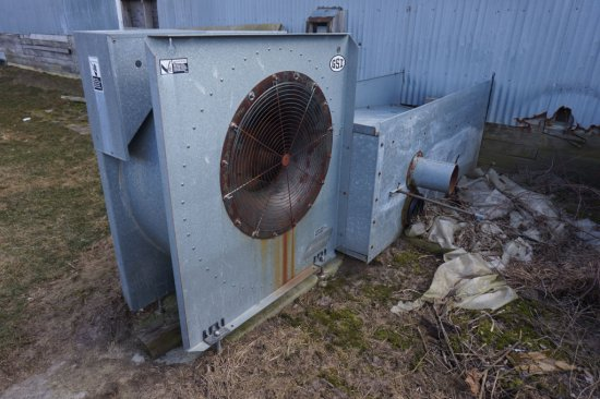 Gsi Fan Unit With 10 Hp Electric Motor And Gate System For Drying Hay