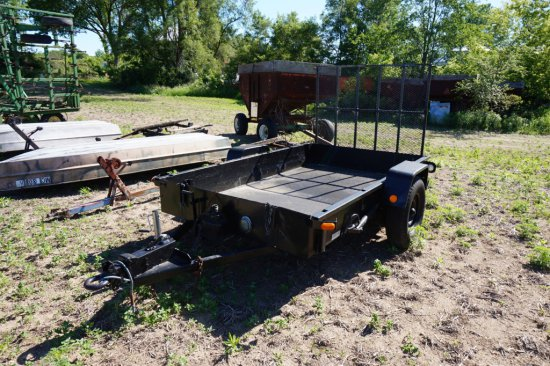6ft X 10ft Trailer W/ Pintle Hitch, 5ft Ramps