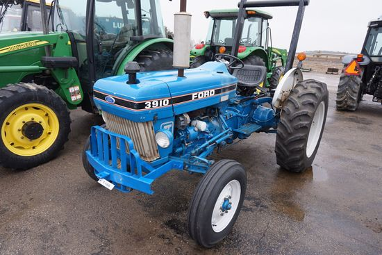 1987 Ford 3910 Ii Diesel Tractor Farm Machinery