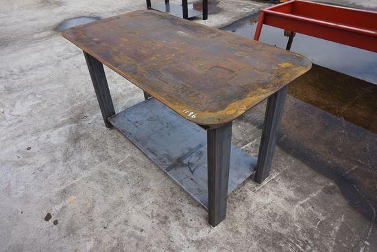 Heavy Duty 30x57 Welding Shop Table With Shelf