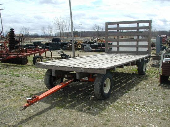 Like New Flat Deck Hay Wagon