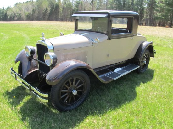 1928 Dodge Fast Four 2 Door Coupe, 4 cyl. 3 speed on floor, seller purchased already restored. Star