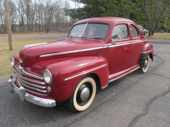 1948 Ford Super Deluxe 8 2 Door Coupe, V8 w/3spd. on column, some body restoration done by seller &?
