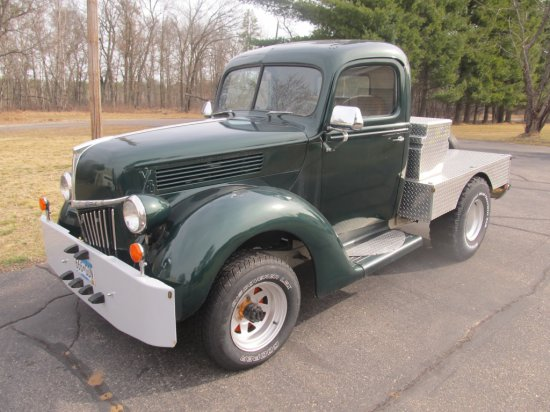 1940 Ford 1/2 ton, reconstructed & built on 1971 Jeep 4x4 running gear, V8 automatic, lock-out hubs,