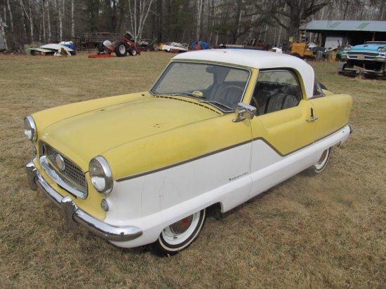 1957 Metropolitan (Nash-Hudson) 2 Door Hardtop Coupe, 4 cyl. 3 spd. on column, starts-runs-drives, y