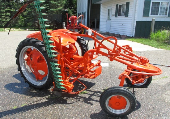 Allis Chalmers G Tractor w/Sickle Mower Newer Rear Tires