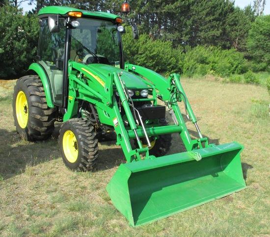 2007 John Deere 4520 Tractor w/400cx Loader/Bucket 4 Cylinder Turbo Diesel 4WD 60 HP 80 Hours (like
