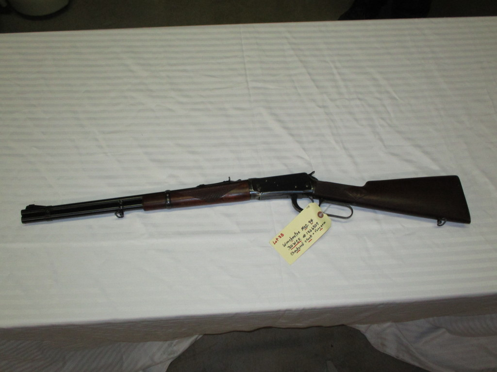 Lot: Winchester model 94  30 WCF checkered stock & forearm ser