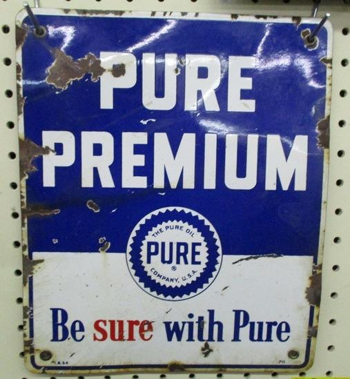 Pure Premium Gas Pump Plate Porcelain