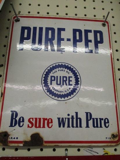 Pure Prep Oil Display sign