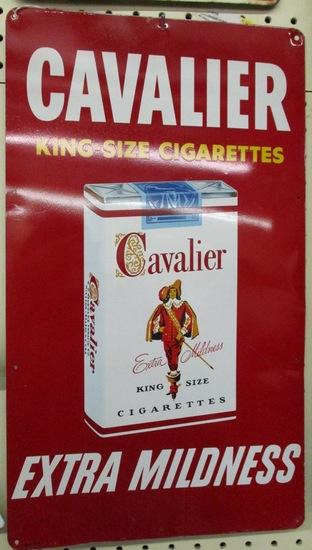 Cavalier Cigarette Sign (nice condition)
