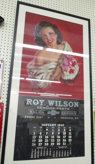 1947 Roy Wilson Genuine Chevrolet Dealer Calendar Original