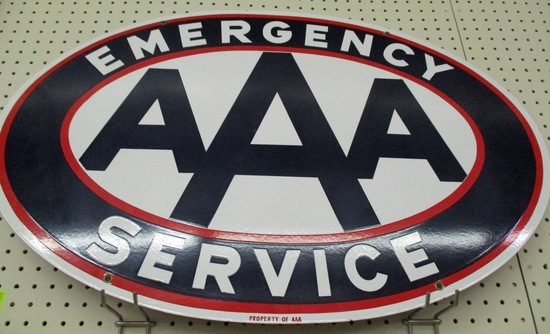 AAA Sign Porcerlain two sided