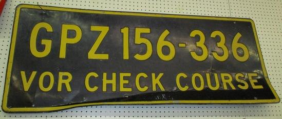 1950's Grand Rapids MN airport runway sign