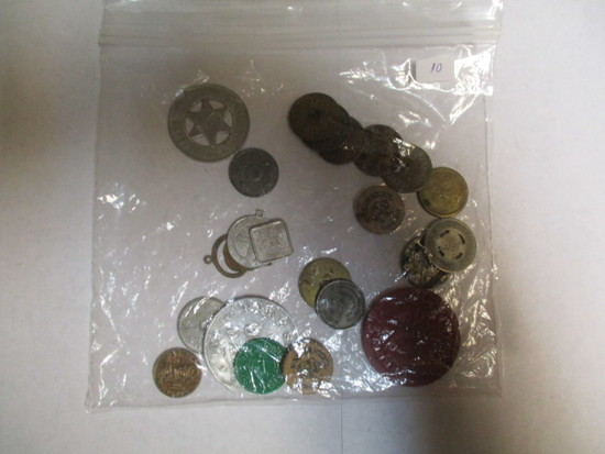Tokens & Medals nice variety 22 items