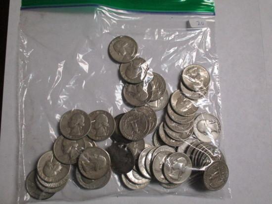 Silver Washington 25 cent 50's & 60's (50 coins)