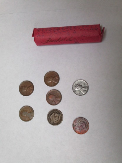 Wheat Cents Teens/20's a few newer plus 2 Indian Head 47 coins