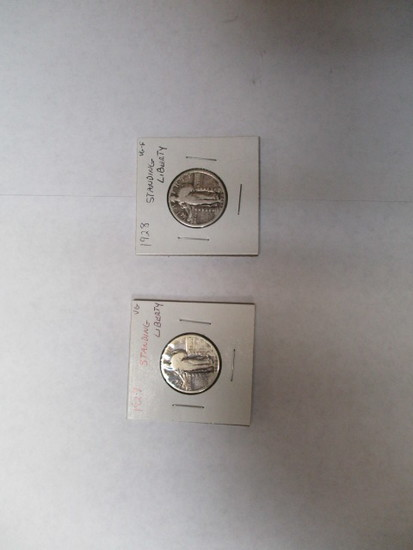 Standing Liberty 25 cent 1927 & 28 Nice Coins