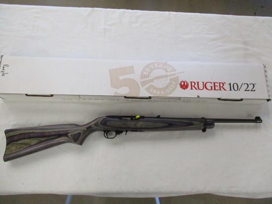 Ruger 10/22 50th Anniversary Purple Laminate .22 LR ser. 829-81720