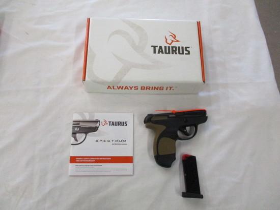 Taurus Spectrum .380 Black Stainless Slide Black Frame FDE Grip NIB ser. 1F095511