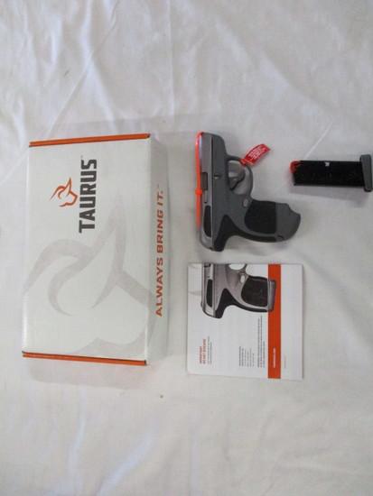 Taurus Spectrom .380 Stainless Slide Gray Gun Black Grips NIB ser. 1F123480