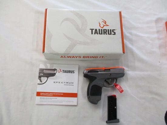 Taurus Spectrom .380 Stainless Slide Gray Gun Black Grips NIB ser. 1F123377