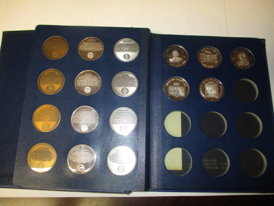 Bicentennial Commemorative Medallians 1976 variety of metal includes 1 OZ silver