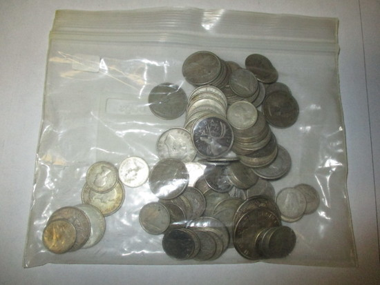 Canadian Silver Coinage Some 50% most 80% Silver Content 50 Cent (2) 25 cent (35) 10 cent (51)