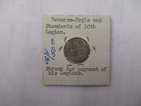 Roman Coin Silver Denarius 31 B.C.