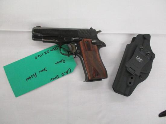 CA.I SA Star 9mm semi auto pistol ser. SBM221160