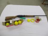 Trap Master 1100 CO2 powdered shotgun w/plastic targets & ammo ser. 549382