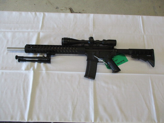 Anderson manufacturing AM15 .223 wylde, floating handguard, 4x16 scope w/bipod very clean ser. 16063