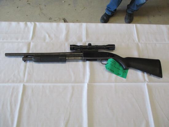 Mossberg Maverick model 88 12 GA pump w/scope ser. MV38369A